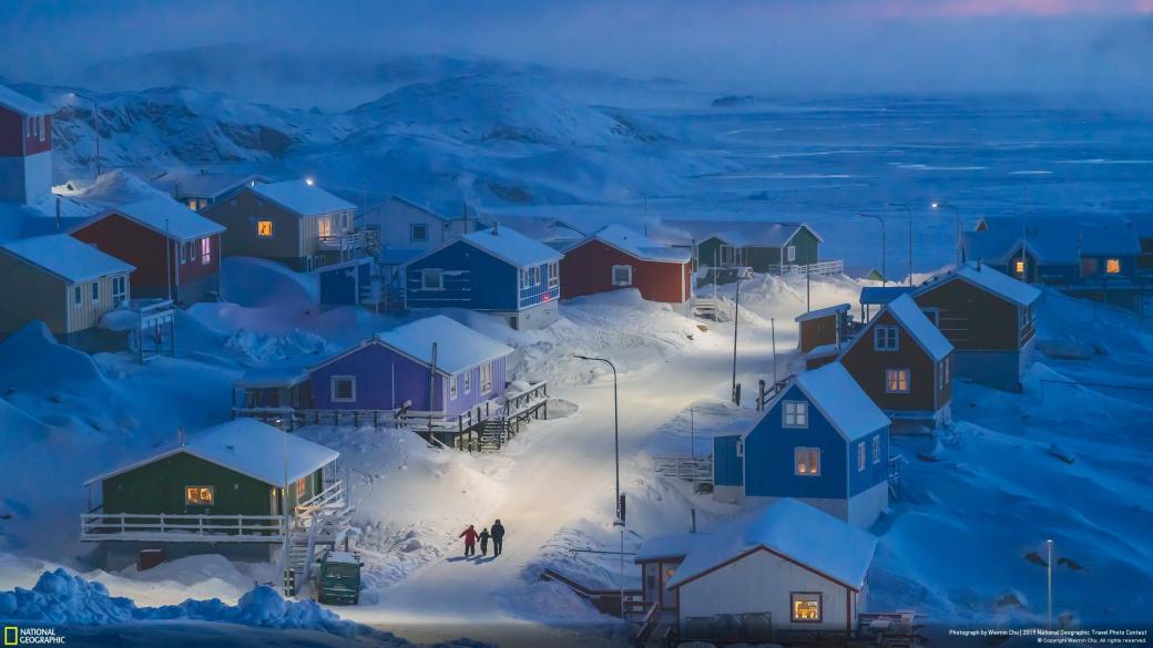 """Chiến thắng chung cuộc: """"Mùa đông Greenland"""". Ảnh: Weimin Chu."""