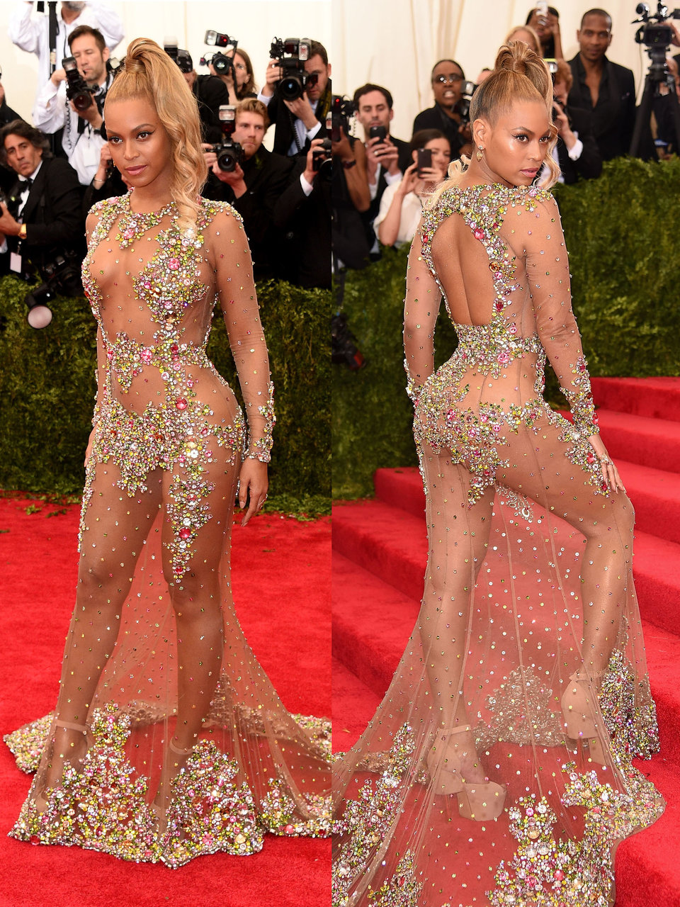 beyonce wowed in this bejeweled givenchy gown at the 2015 met gala
