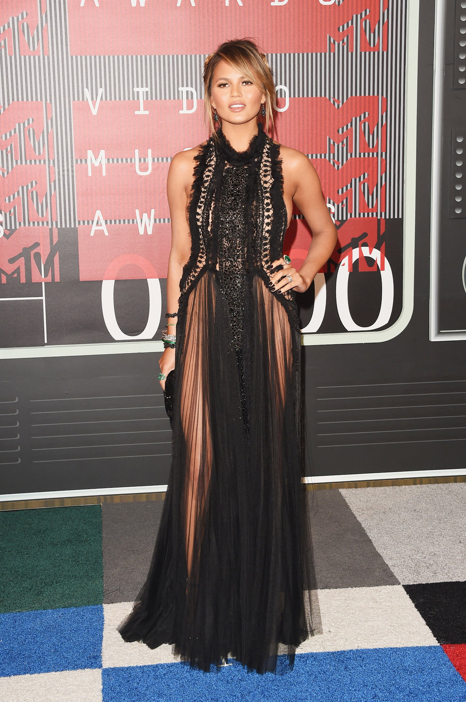 that wasnt the first time teigen stepped onto a red carpet in a daring dress heres her look from the 2015 vmas