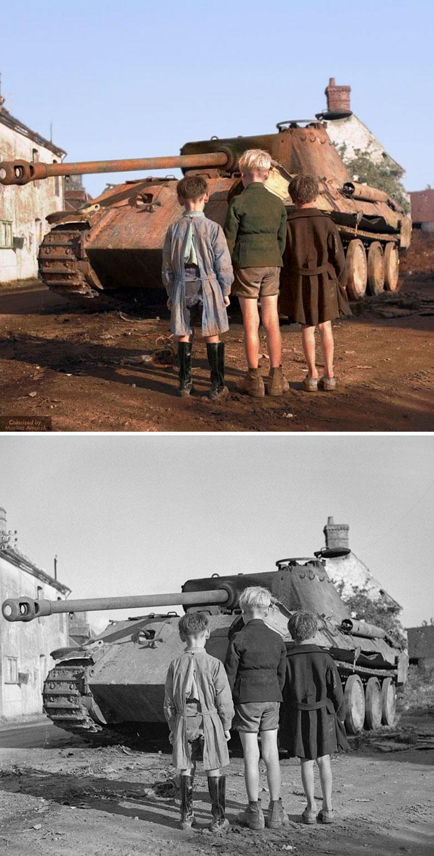 colorized auschwitz girl czeslava kwoka black white historic photos marina amaral 5aaa3fac5cb3a 700