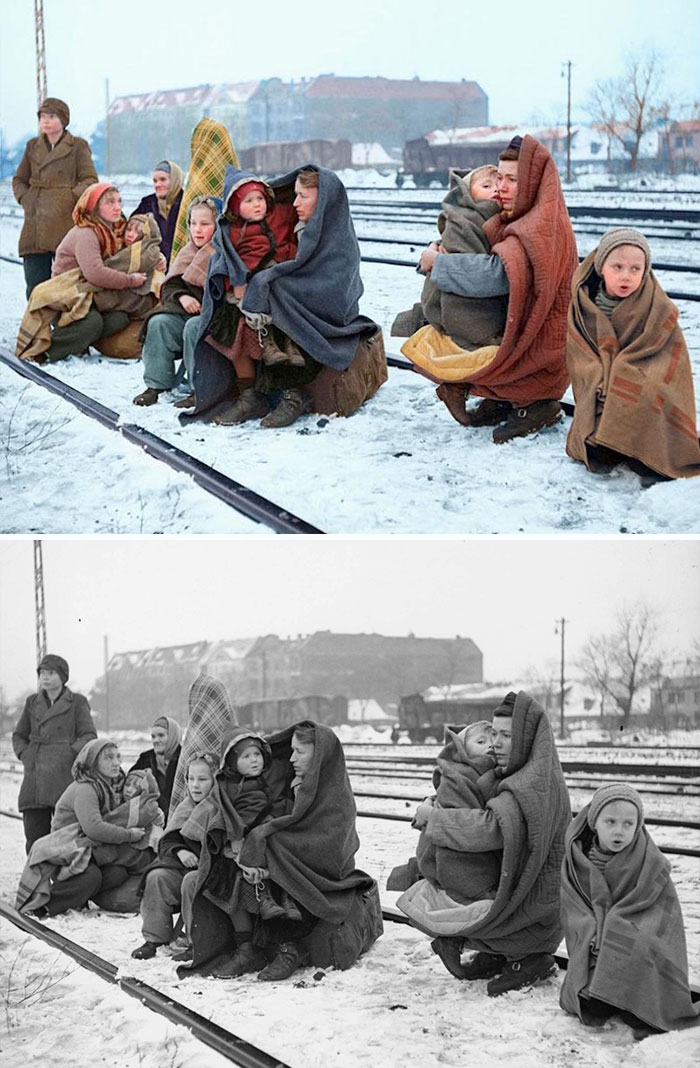 colorized auschwitz girl czeslava kwoka black white historic photos marina amaral 5aaa3fc6d58d4 700