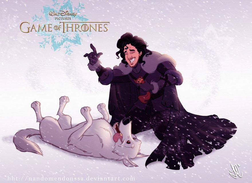 game of thrones disney style illustration combo estudio 8 5aafaa95cd138 880 1