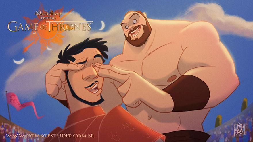 game of thrones disney style illustration combo estudio 8 5aafaa95cd138 880 10