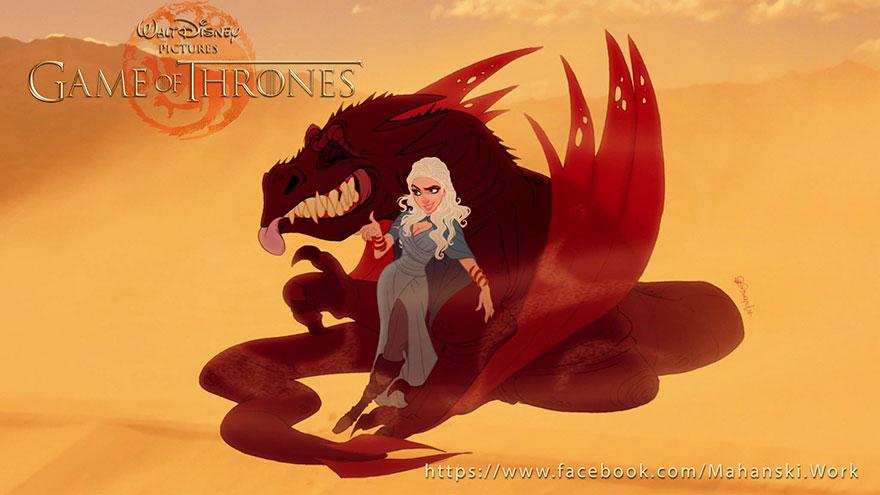 game of thrones disney style illustration combo estudio 8 5aafaa95cd138 880 5