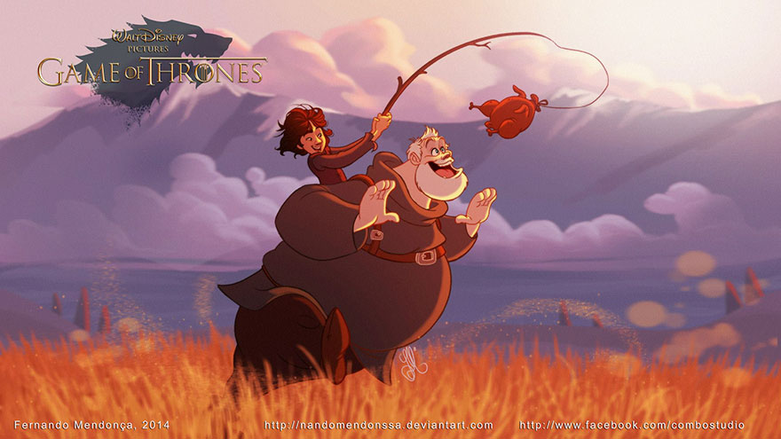 game of thrones disney style illustration combo estudio 8 5aafaa95cd138 880 8