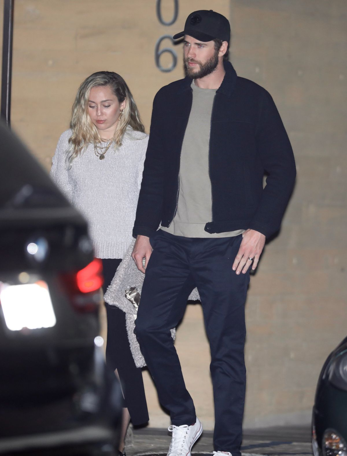 miley cyrus liam hemsworth leaving after a romantic dinner in la 6