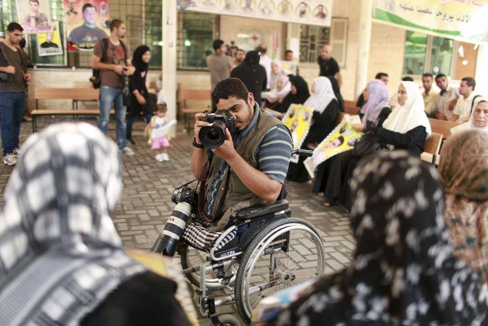 wheelchair bound palestinian