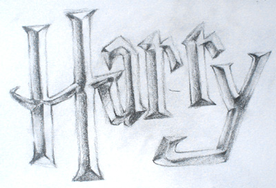 harry potter font by midwinter dreams