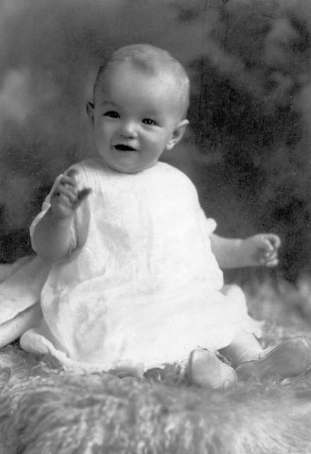 monroe as an infant