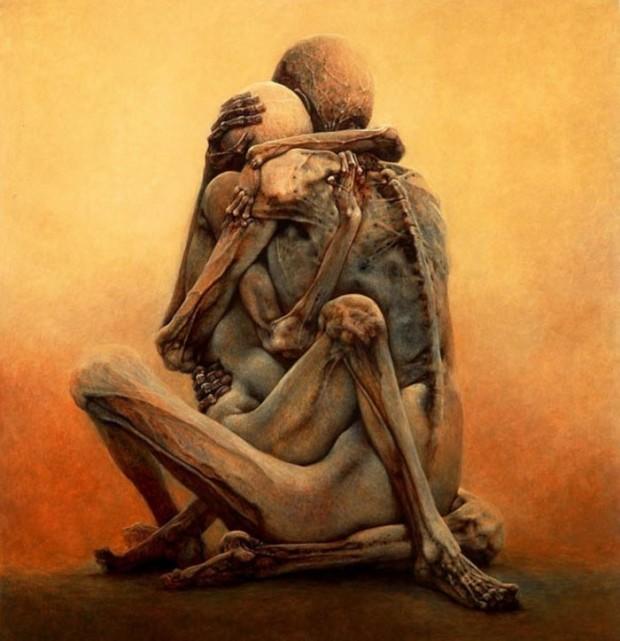 hauntingly dystopian paintings cold shivers zdzislaw beksinski 11