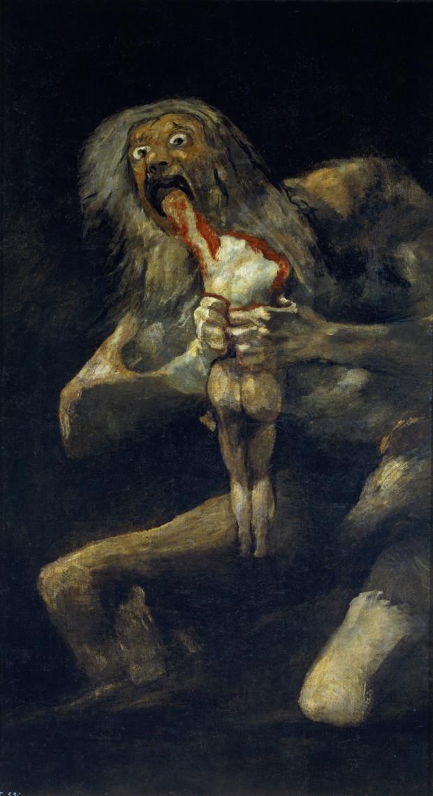 saturn devouring one of his children 1823