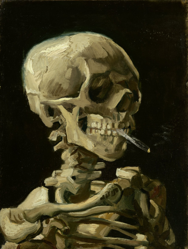 vincent van gogh head of a skeleton with a burning cigarette google art project