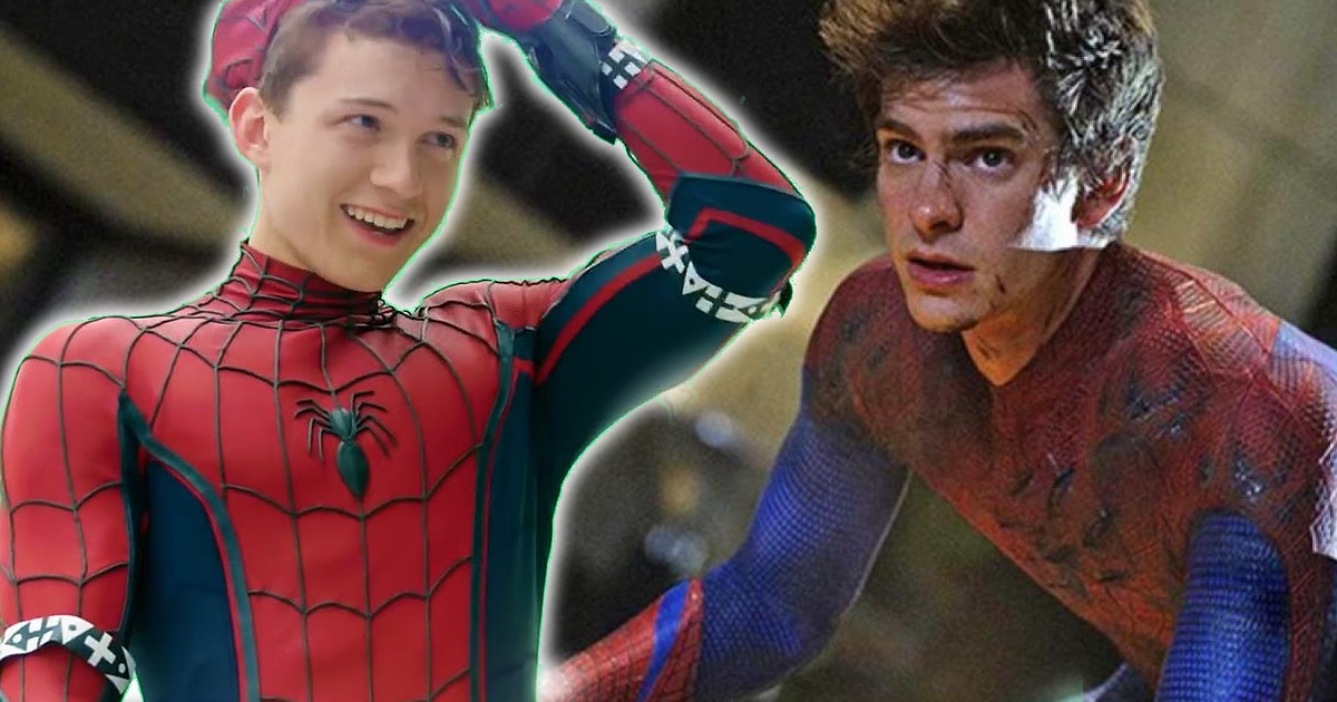 tom holland spider man andrew garfield