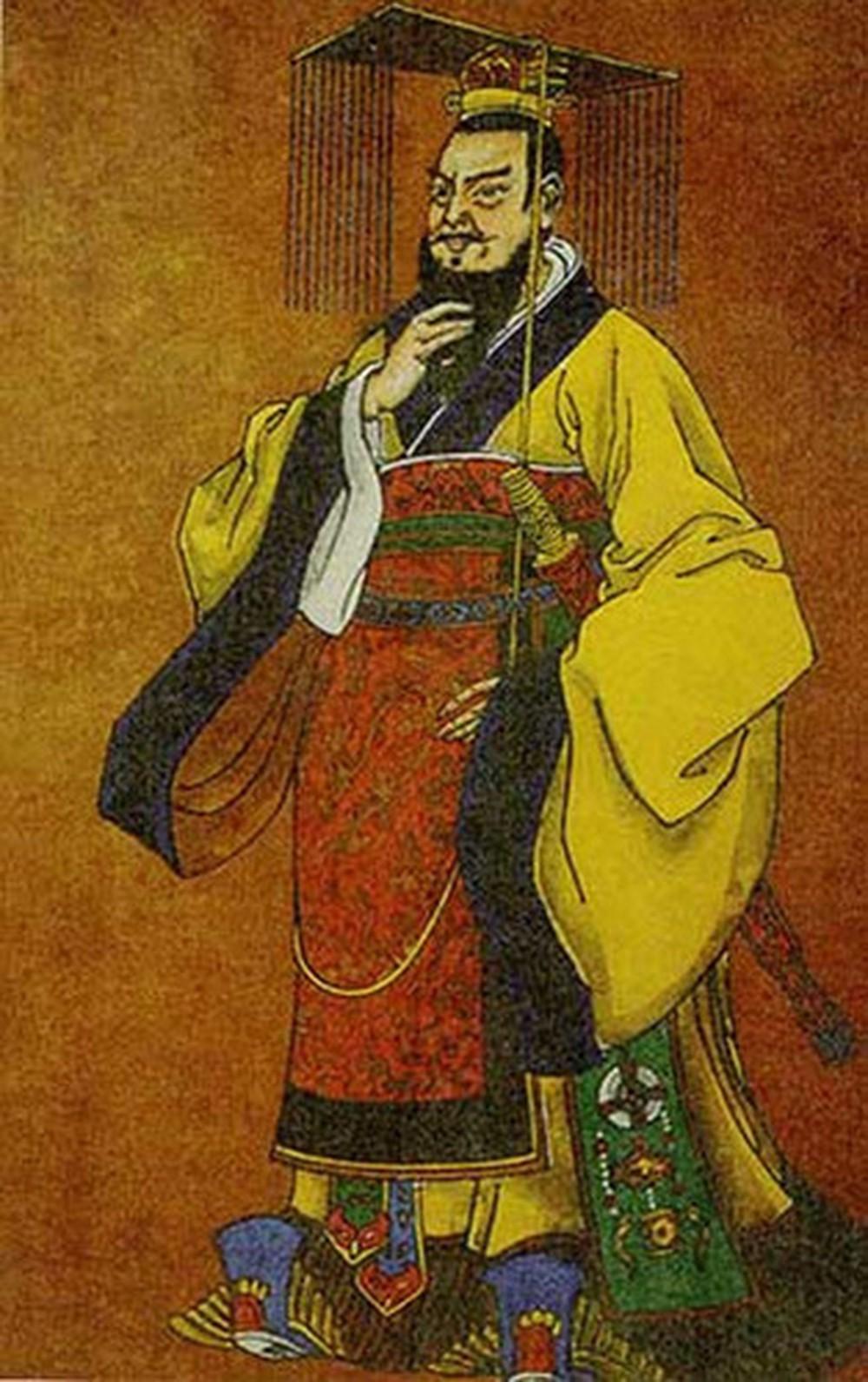 Tranh phác họa Tần Thủy Hoàng.