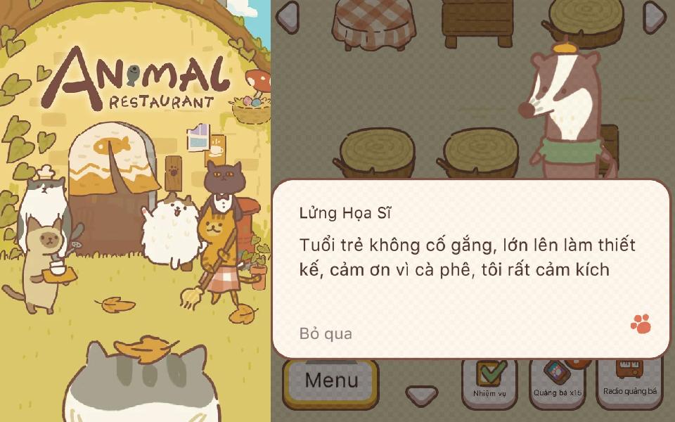 'Animal Restaurant': Game nhà hàng thú cưng nổi đình đám nhờ đáng yêu và 'mặn mòi'
