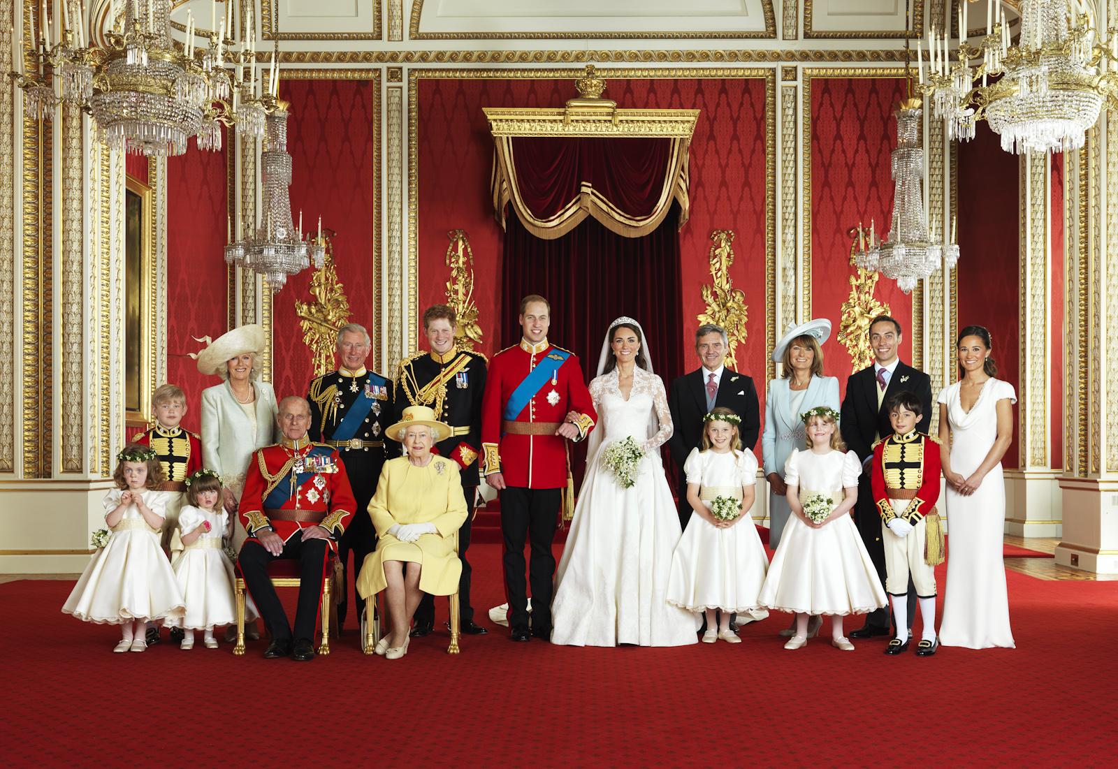 Ảnh chụp từ đám cưới của hoàng tử William và công nương Kate Middleton.
