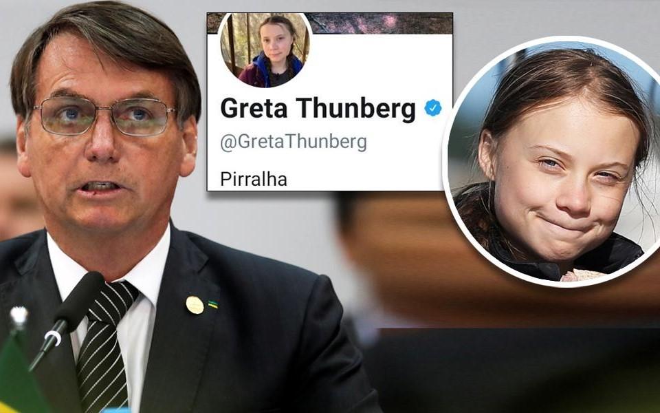 Tổng thống Brazil gọi nhà bảo vệ môi trường trẻ tuổi Greta Thunberg là 'đồ sâu bọ'