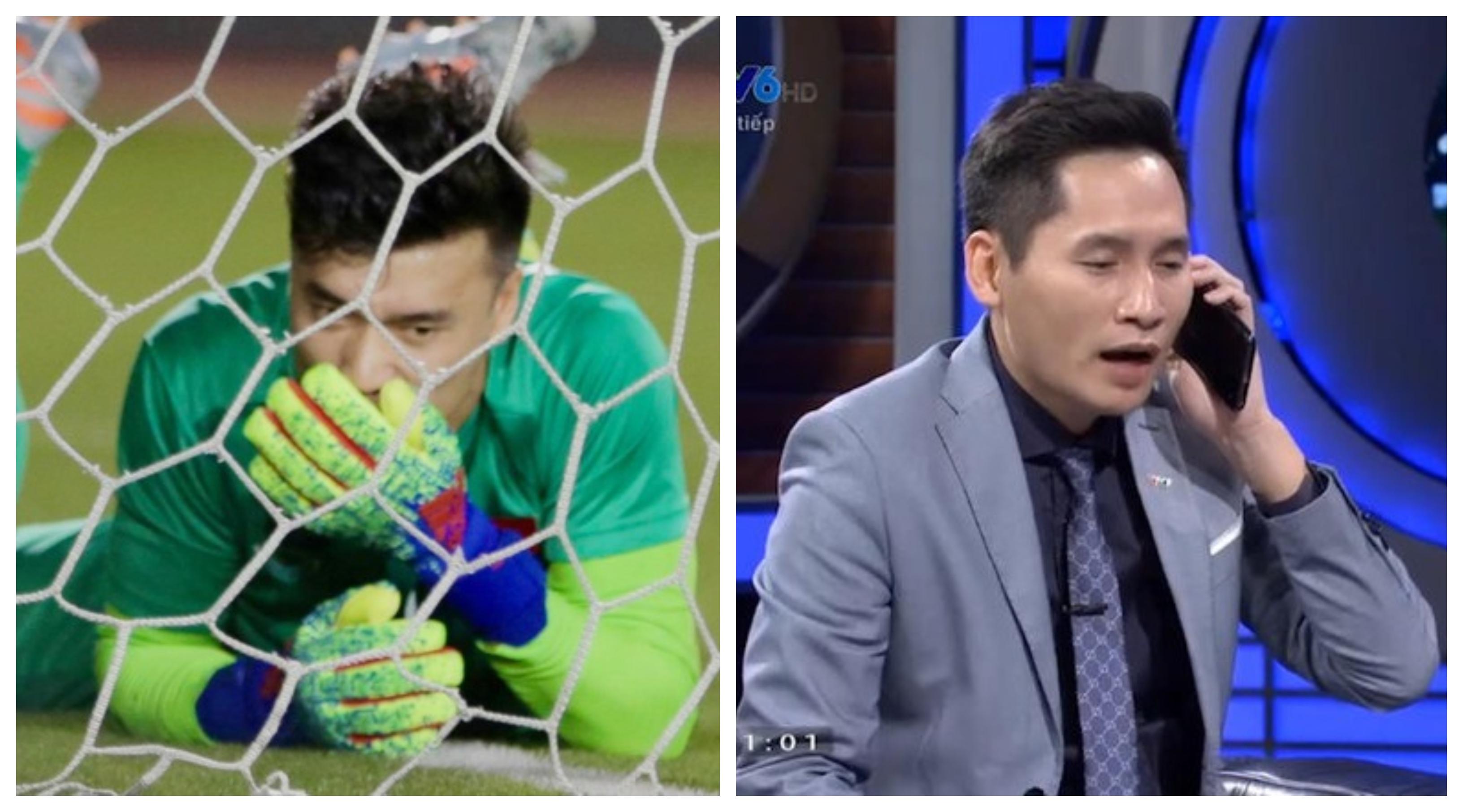 MC Quốc Khánh gây phẫn nộ khi mỉa mai Bùi Tiến Dũng trên truyền hình hậu trận đấu với Indonesia