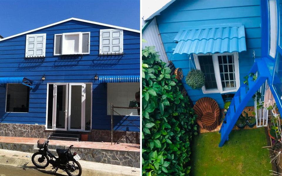 Hội cuồng màu xanh dương ngất ngây với ngôi nhà cực xinh trên phố núi Bảo Lộc