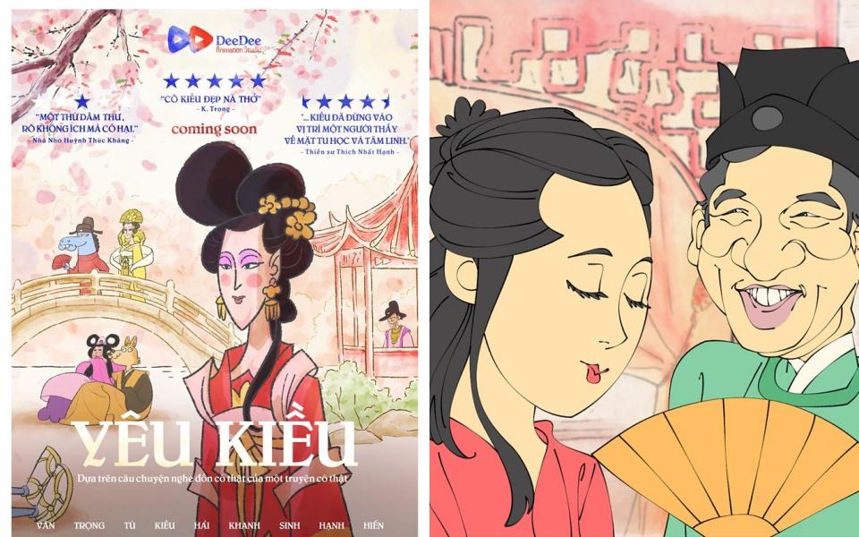 'Yêu Kiều': Phim hoạt hình chuyển thể từ Truyện Kiều của Nguyễn Du đang viral vì cực duyên và dí dỏm