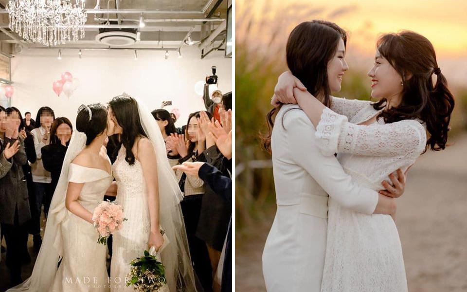 Đám cưới đẹp như mơ của cặp đôi lesbian Hàn Quốc