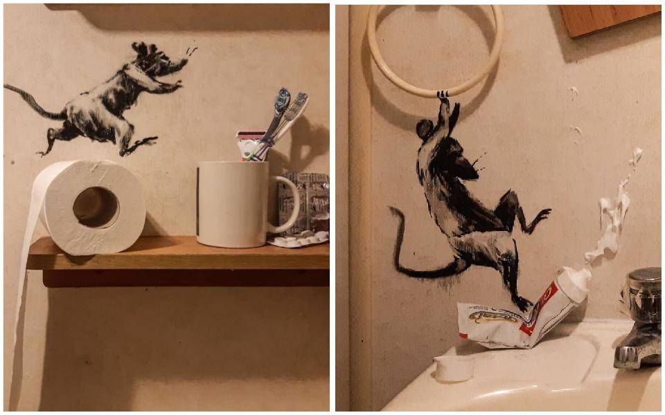 Nghệ sĩ rảnh rỗi cách ly tại gia, vẽ tranh trong nhà vệ sinh cũng... kiếm tiền tỷ