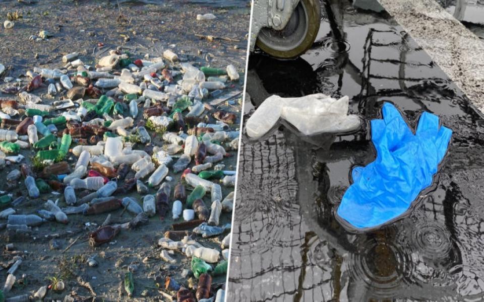 Nỗi lo mới của môi trường: Găng tay, khẩu trang bị vứt bừa bãi khắp mọi nơi