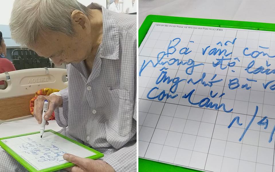 Cháo hành miễn phí: Cụ ông nằm viện vẫn cố gắng viết thư tình cho cụ bà ở nhà