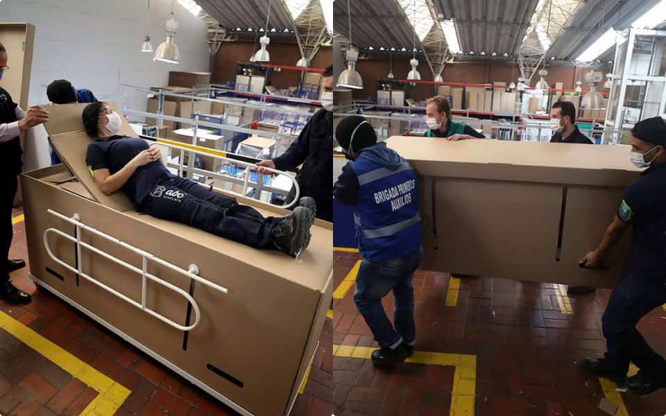 Vừa làm giường vừa làm quan tài - phát minh mùa dịch của Columbia khiến thế giới sững sờ