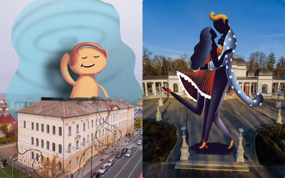 Nhóm nghệ sĩ người Rumani phủ màu tươi sáng lên thành phố ảm đạm trong mùa dịch