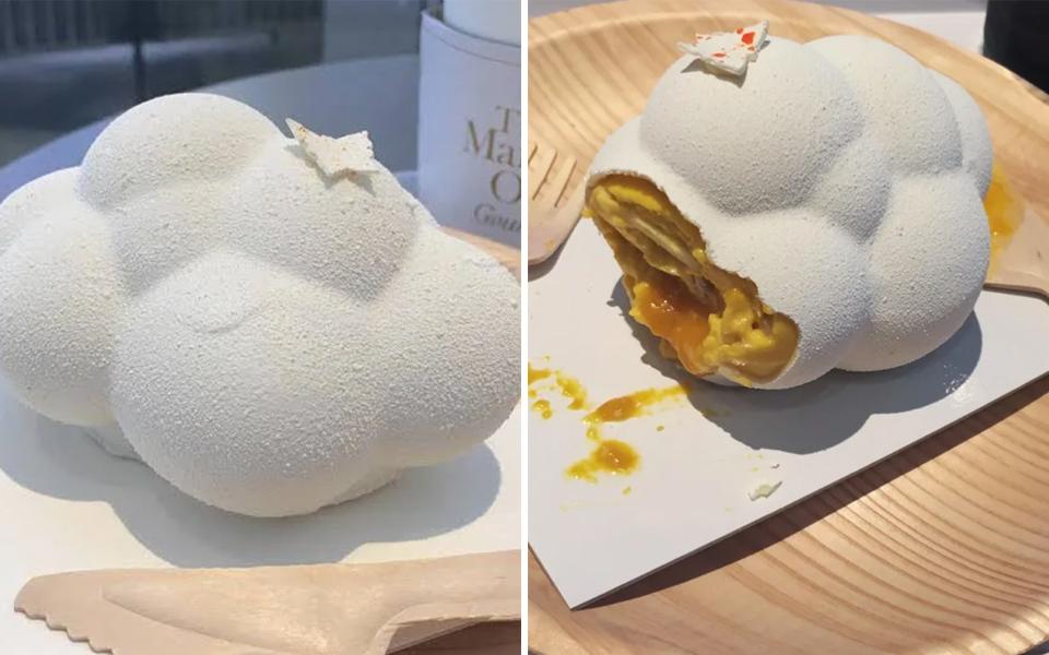 Có gì trong chiếc bánh đám mây trắng bềnh bồng nổi tiếng ở khách sạn 5 sao Nhật Bản?