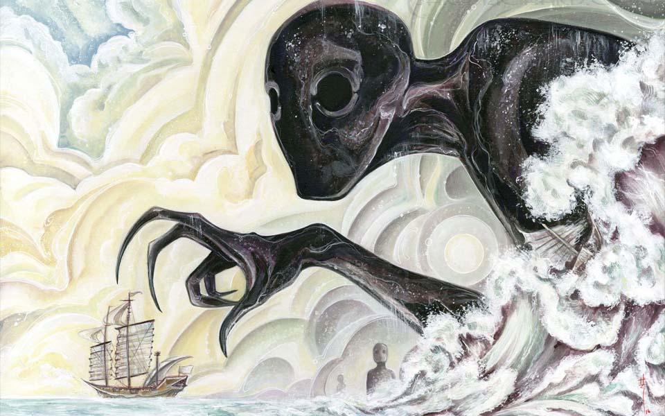 Umibozu - Thủy quái 'Nhà sư đi biển' gieo rắc tai ương kinh hoàng cho đại dương Nhật Bản