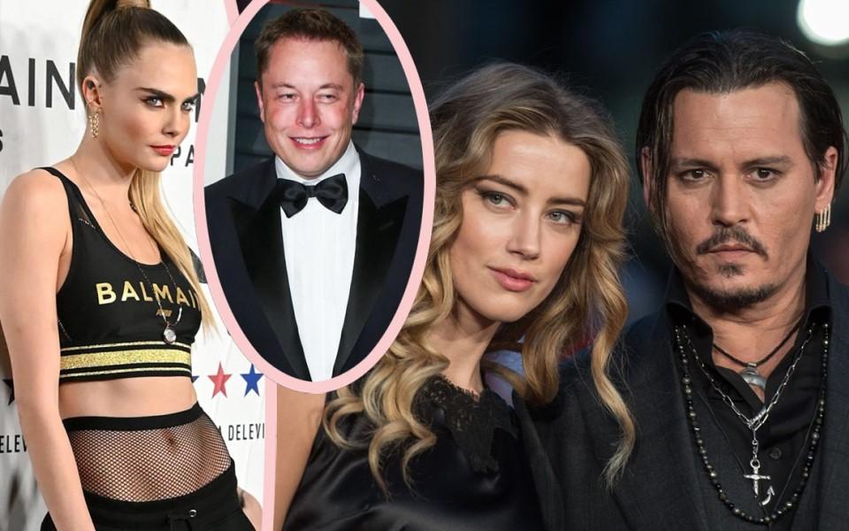 Amber Heard bị tố 'vui vẻ tập thể' với Cara Delevingne và Elon Musk ngay trong nhà Johnny Depp