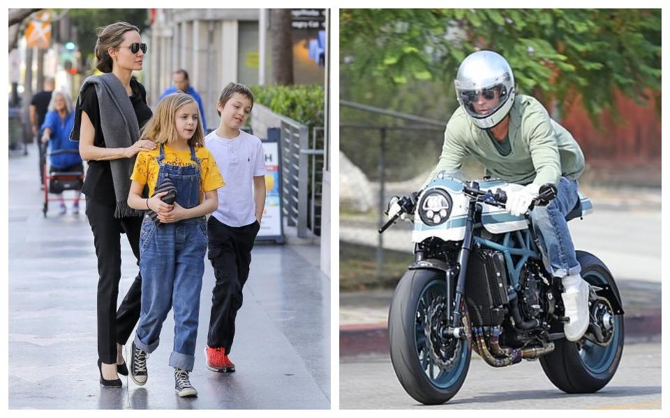 Brad Pitt lần đầu tiên đến nhà Angelina Jolie sau 4 năm ly hôn