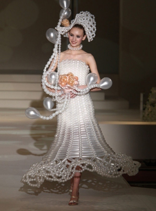 wedding dress with beads