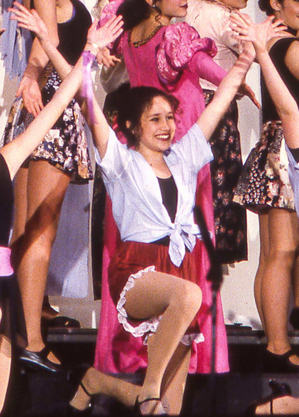 shining in a school play aged 14 one teacher remembers she could play any character she was really good