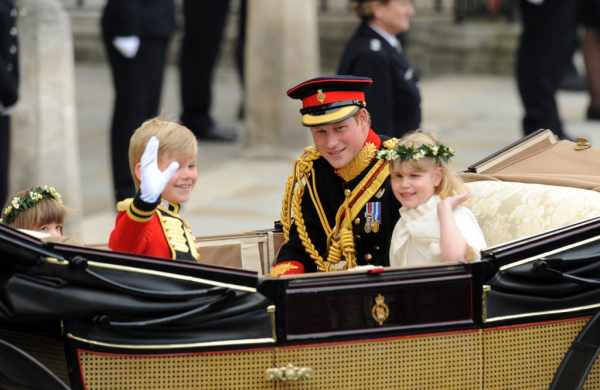prince harry rode same carriage two kate william