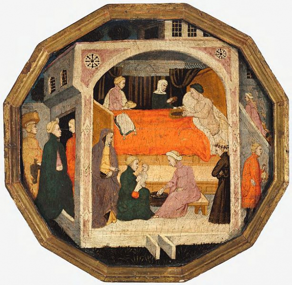 4 master of charles of durazzo francesco di michele a birth scene desco da parte c 1410 harvard art museum 2