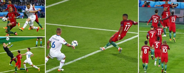 nani goal video portugal vs iceland highlights