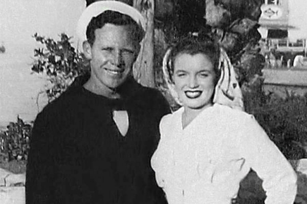 monroe with her first husband james dougherty