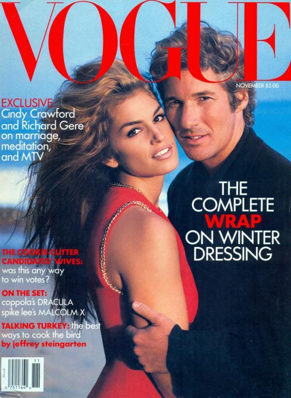 cindy crawford richard gere vogue cover men november 1992