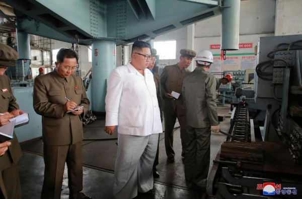kim visited a shipyard in north hamgyong province and moaned they missing targets