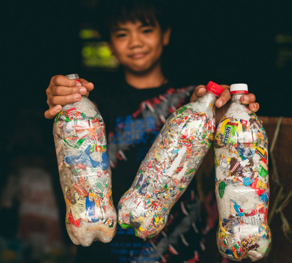 ecobricks are bottles packed with non biological waste