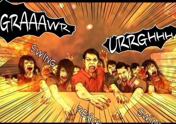dead days truyen tranh horror hap dan ve dai hoa zombie
