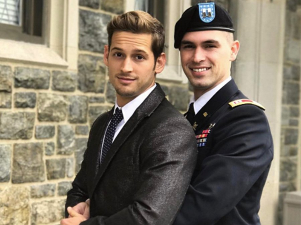 gay couple military prom photo shoot
