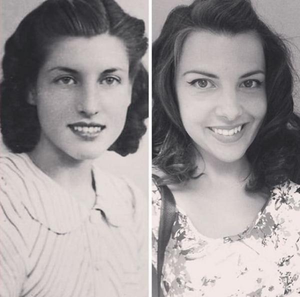 a girls grandma and her 70 years apart