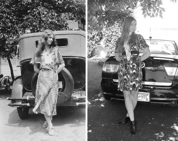 girls grandma in 1931 and her in 2012