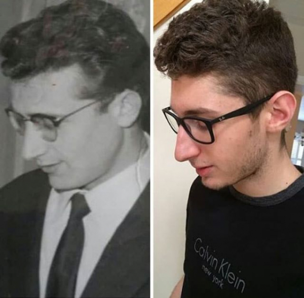 my grandfather and i 1965 and 2016