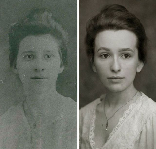 recreating a great grandmothers 1918 portrait