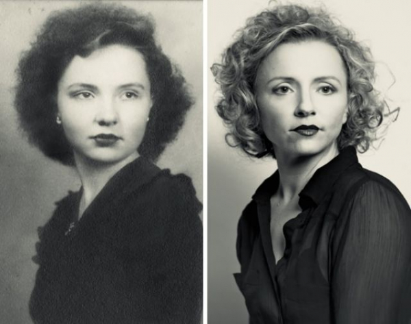 someones grandmother age 16 1944 and granddaughter 2015